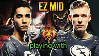 Queen of Pain Pro Gameplay - Sumail Mid Lane Practice - EG Dota 2 Patch 7.17