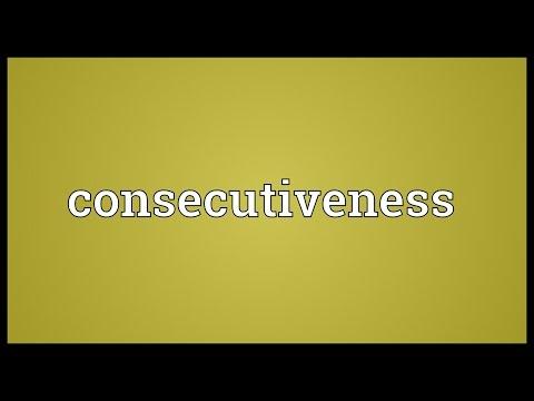 Header of consecutiveness