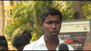 Sri Lankan tamil issue- Loyola college students started...