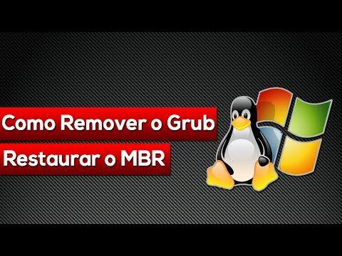 Como Remover o GRUB e Restaurar o MBR  (Win 7 e Win 8)