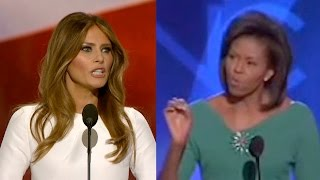 Did Melania Trump PLAGIARIZE Michelle Obama?? | What