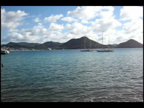 A panorama from Pigeon Island, close to Gros Islet, in St Lucia.