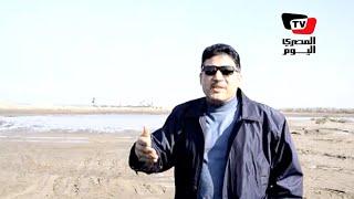 وزير الري يشهد تكريك بحيرة المنزلة
