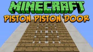 Minecraft: Piston Piston Door Tutorial