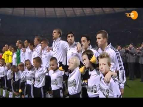 Deutschland vs Trkei EM Quali Anpfiff und Nationalhymne