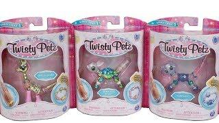 Twisty Petz Bracelet Jangles Giraffe, Bubblegum Bunny and Cutie Kitty Unboxing Toy Review