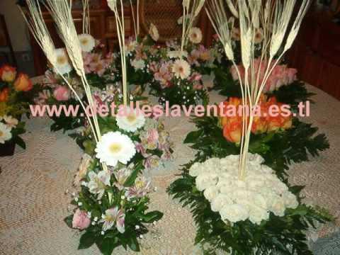 Arreglos centros de mesa flores youtube - Arreglos florales artificiales centros de mesa ...