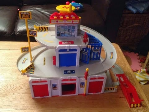 Fast Lane Rescue Center - Toddlers Review - Fire Engine. Police Car. Helicopter. Ambulance