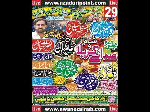Live Majlis 29 March 2019 Makhnawali Mandi Bahauddin
