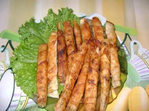 Закусочные сырные палочки из лаваша
