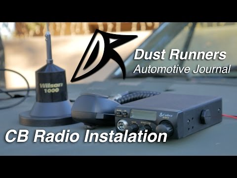 How to Install A Cobra 19 CB Radio in your Jeep Using a Wilson 1000 Magnet Mount Antenna