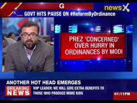 President 'concerned' over hurry in ordinances by Narendra Modi
