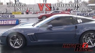Toyota Supra vs Corvette