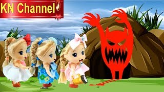 Búp bê KN Channel KHÁM PHÁ HANG ĐỘNG QUÁI VẬT | DISCOVERY MONSTER TOY VIDEO