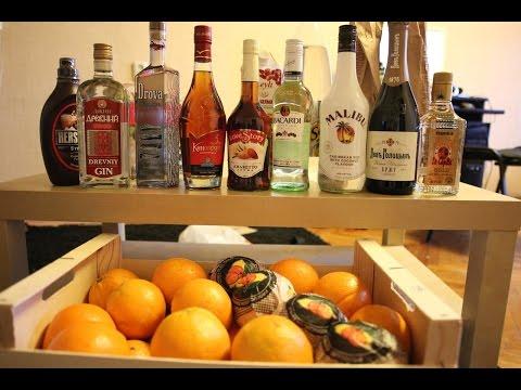 Коктейли с апельсиновым соком (выпуск 18+)