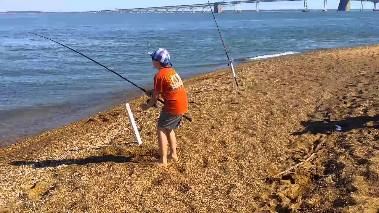 sandy point state park pre season fishing part 2 fishing bay