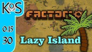 Factorio 0.15 Lazy Bastard Achievement Ep 30: SMELTING A LA REDS - Lazy Island, Let's Play, Gameplay