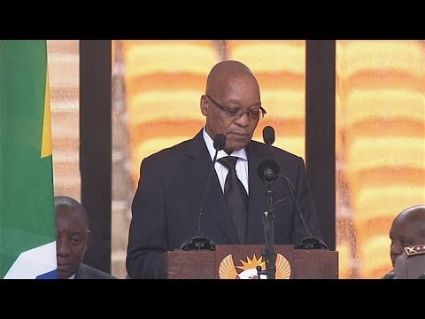 Mandela memorial: President Jacob Zuma booed during speech at FNB Stadium