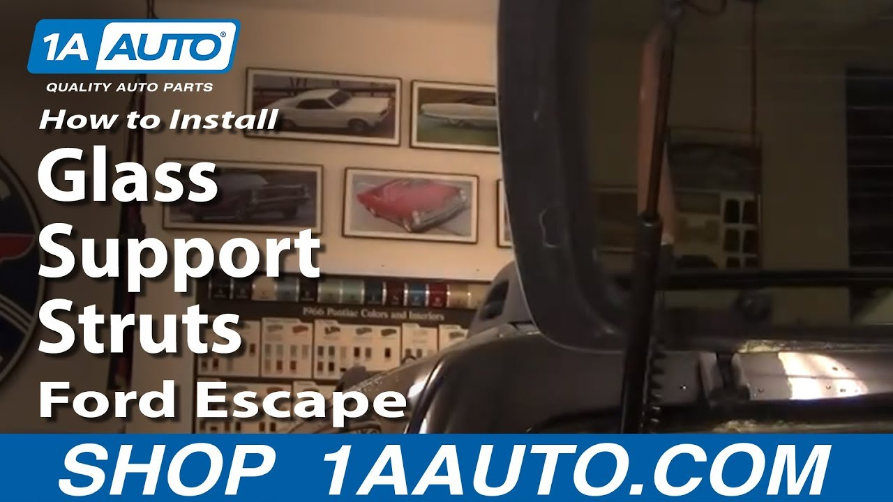 How to install replace rear glass support struts ford for 2002 ford escape rear window hinge