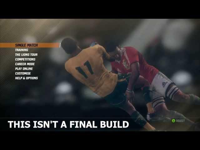 Руководство запуска:  Rugby Challenge 2: The Lions Tour Edition по сети