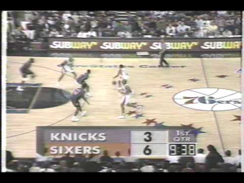 NY Knicks vs Philadelphia 76ers  December 20, 1996 Reg season Part 2 of 13