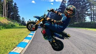 Funny Den Unboxing and Test Drive new Pocket Bike - Baby Ride On Mini BIKE POWER WHEEL for kids