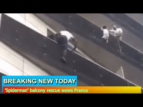 Breaking News - 'Spiderman' balcony rescue wows France