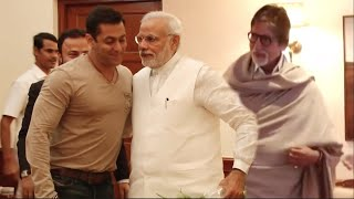 See How PM Modi Behaved With Salman Khan, Vivek Oberoi and Amitabh Bachchan !
