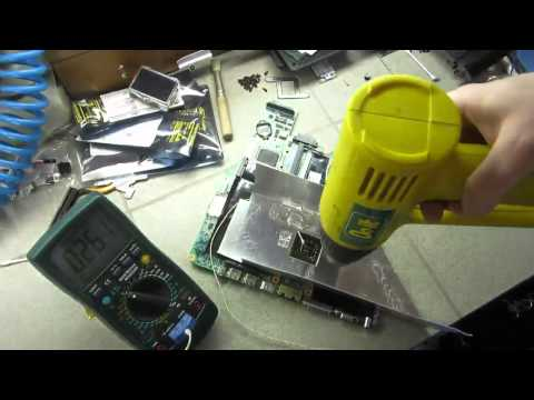 HP Pavilion DV9000 Series Laptop Display Repair - GPU BGA Reflow
