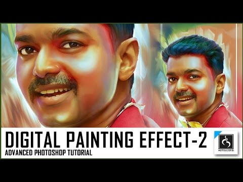 Advanced Photo to Colorful Digital Painting Photoshop Tutorial Part-2/5 | MutualGrid