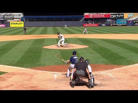 TB@NYY: Miller snares hot shot from Forsythe