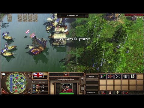 Age of Empires III - England vs Netherlands Expert Difficulty