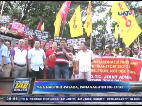 Protest rally vs higher penalty sa traffic violations, isinagawa ng mga transport group
