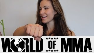 Miesha Tate Shows Us Her Bloody Knuckles From Hard Training at AO8 Fitness Center