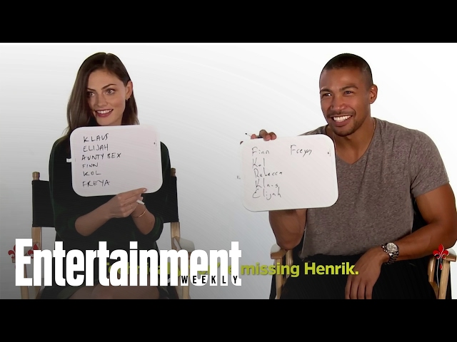 The Originals: How Well Does The Cast Know The Show? | Entertainment Weekly thumbnail