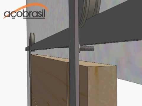 Kit porta de correr madeira