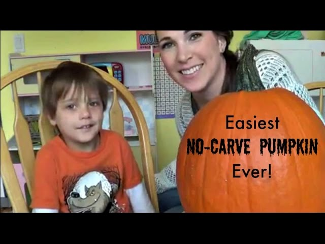 Easiest No-Carve Pumpkin Ever!