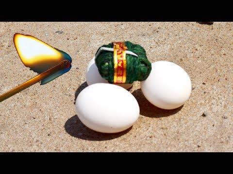 3Eggs Vs Chota Bomb | Egg Vs Diwali Crackers | Diwali Fireworks Vs Eggs EXPERIMENT | Tollywood Nagar