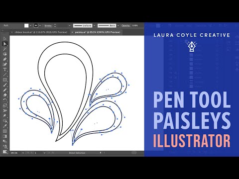 Illustrator Tutorial: Pen Tool Paisleys