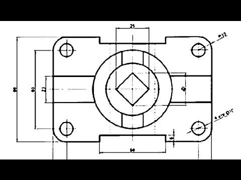 Деталь в AutoCAD