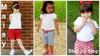 How to sew  Shorts for Girls   (Maisy Pattern)