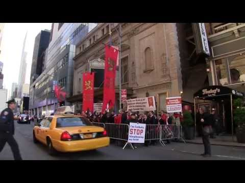 Blasphemy on Broadway: Catholics Protest 