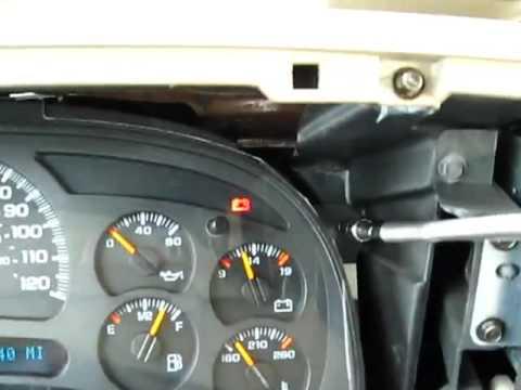 2004 Chevy Silverado Speedometer Removal