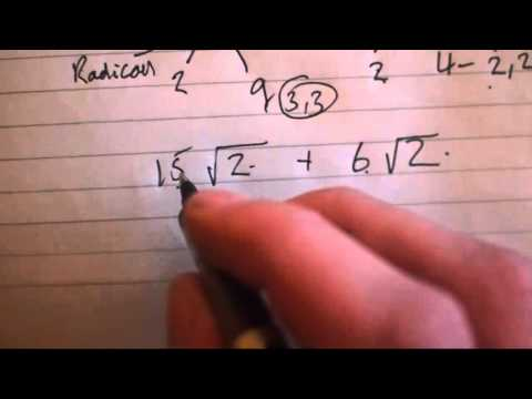 Watch Adding and Subtracting Radicals (Square Roots ...