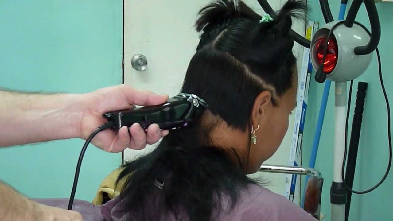 how to clipper cut hair by self youtube nape long hair buzz cut youtube. Black Bedroom Furniture Sets. Home Design Ideas