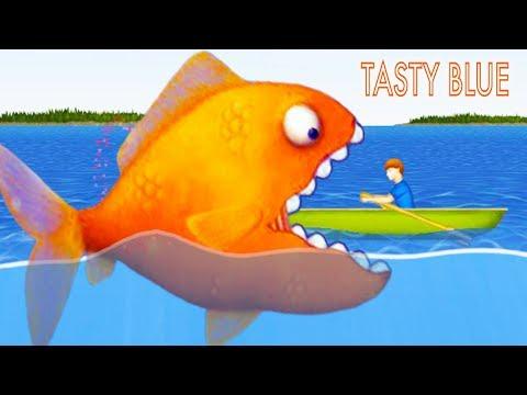 Tasty Blue СЪЕСТЬ ОКЕАН! Мультик игра для детей про РЫБКУ ОБЖОРУ похожая на СЪЕДОБНУЮ ПЛАНЕТУ