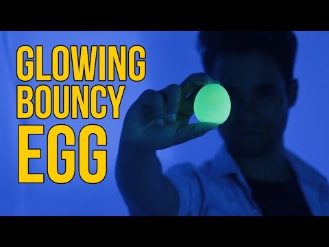 Glowing Bouncy Egg - Vinegar And egg - Rubber Egg Science Experiment
