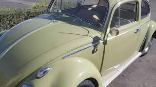VW Bug ragtop Cruise in the California smog