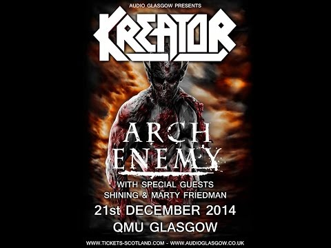 Kreator (DE) - Live at the QMU, Glasgow December 21, 2014 - encore segment HD