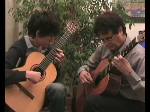 CANTO DE OSSANHA Baden Powell - Vinicius de Moraes- two guitars due chitarre duo de violão